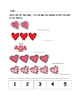 Valentine Math - Kindergarten - Numbers 1 to 10