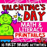 Valentine Math & Literacy Activities- 1st Grade