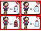 Valentine Math - Lovely Counting PK-1st Task cards & Flashcards