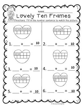 Valentine Math Mat Freebie!