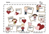 Valentine Math Mat ~ Roll and Cover (or) Color Game, Addition