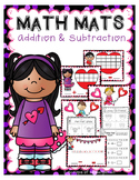 Valentine Math Mats ~ Addition & Subtraction