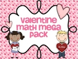 Valentine Math Mega Pack (Valentine Themed Math Centers for First Grade)