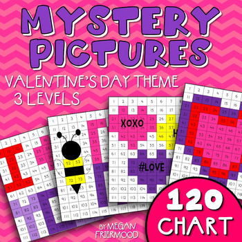 Valentine Math Mystery Pictures {120 Chart} *DIFFERENTIATED*