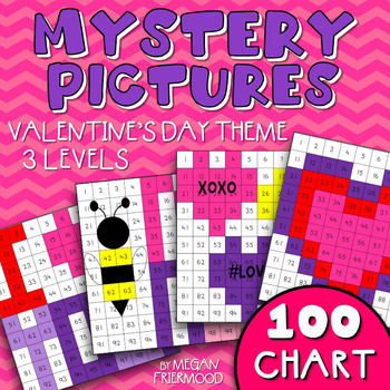 Valentine Math Mystery Pictures {100 Chart} *DIFFERENTIATED*