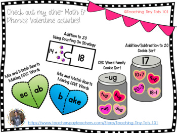 Valentine Math Mystery Pictures