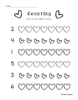 Valentine Math No Prep
