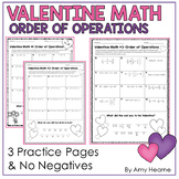 Valentine Math Order of Operations Riddle Worksheets