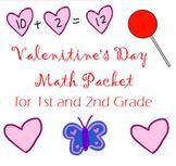 Valentine Math Packet (Addition, Subtraction, Arrays, Hund