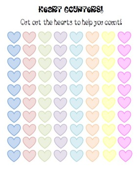 Valentine Math Packet! (Counting, Adding, Grouping, and more!)