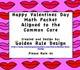 Common Core Valentine Math Packet