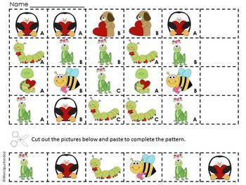 Valentine Math Patterning Activities