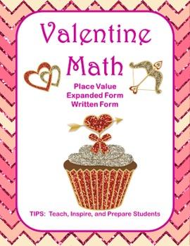 Valentine Math Place Value