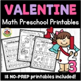Valentine Math Preschool Printables