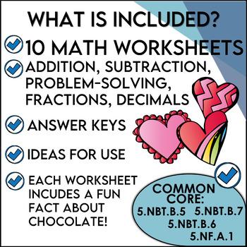 Valentine Math Print and Solve Gr. 5