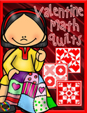 Valentine Math Quilts Color by Code for Multiplication Fac