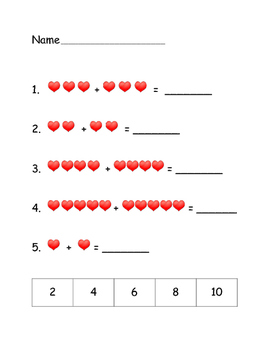 Valentine Math Review