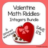 Valentine Integers Math Riddle Bundle