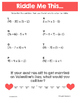 Valentine Math Riddles: Middle School Bundle