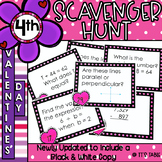 Valentine Math Scavenger Hunt: 4th Grade Skill Review