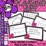 Valentine Math Scavenger Hunt 6th Grade