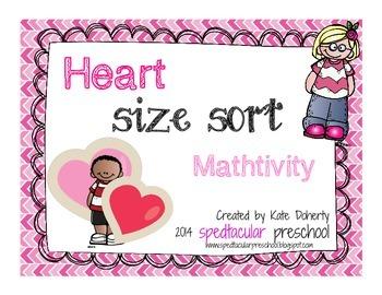 Valentine Math Size Sort Activity