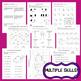 Valentine Math Skills Review (NO PREP) February