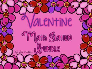 Valentine Math Station Bundle