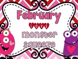 """Valentine Math Station """"Love Monster Number Squeeze!"""" 0-50"""
