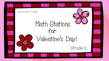 Valentine Math Stations Bundle