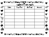 Valentine Math Table