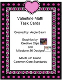 Valentine Math Task Cards 4th Grade Meets Common Core