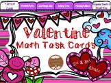 Valentine Math Task Cards: 2nd/3rd Grade Time, Money, Missing Addends