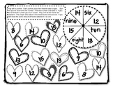 Valentine Math Time - Math cooperative activities for math skills review
