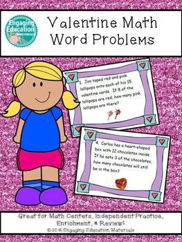 Valentine Math Word Problems