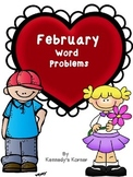 Math Word Problems for February - Grades 2-3