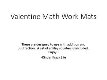 Valentine Math Work Mats- part part whole