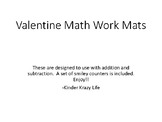 Valentine Math Work Mats- part part whole