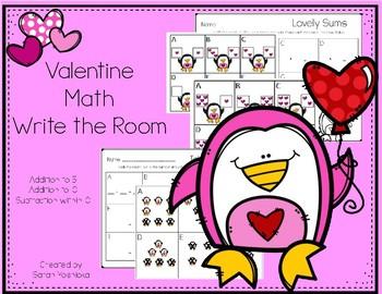 Valentine Math Write the Room