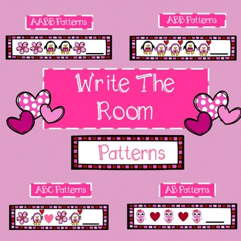 Valentine Math Write the Room