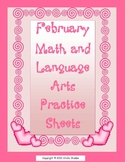 Valentine Math and Language Arts Pack