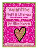 Valentine Math and Literacy