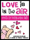 Valentine Math and Literacy Activities {Love is in the Air!}