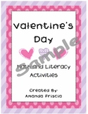 Valentine Math and Literacy Activities for PreK, Kindergarten, First