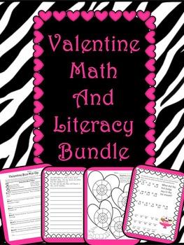 Valentine Math and Literacy Bundle