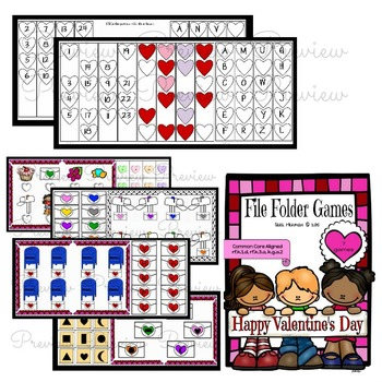 Valentine's Day: Math and Literacy Hands On Centers