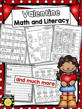 Valentine Math and Literacy Pack