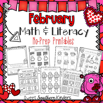 Valentine Math and Literacy Pack No-Prep