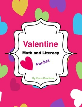 Valentine Math and Literacy Packet