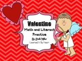 Valentine Math and Literacy Practice